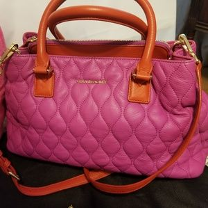 Vera Bradley Fuchsia Leather Handbag